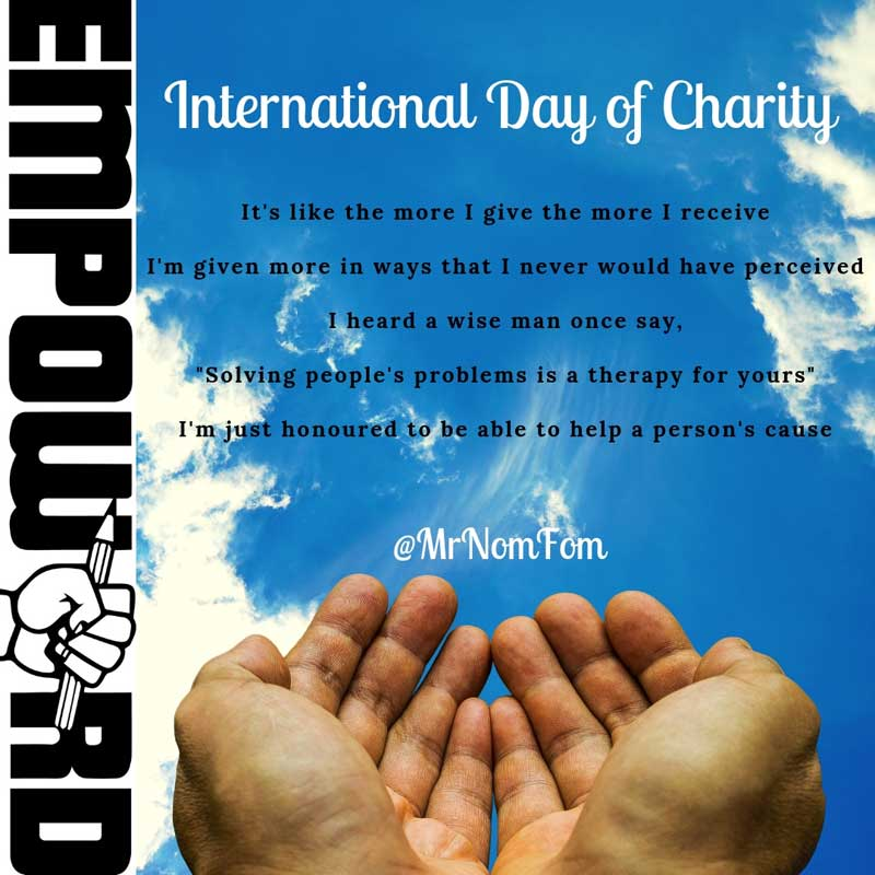 Instapoetry - International Day of Charity
